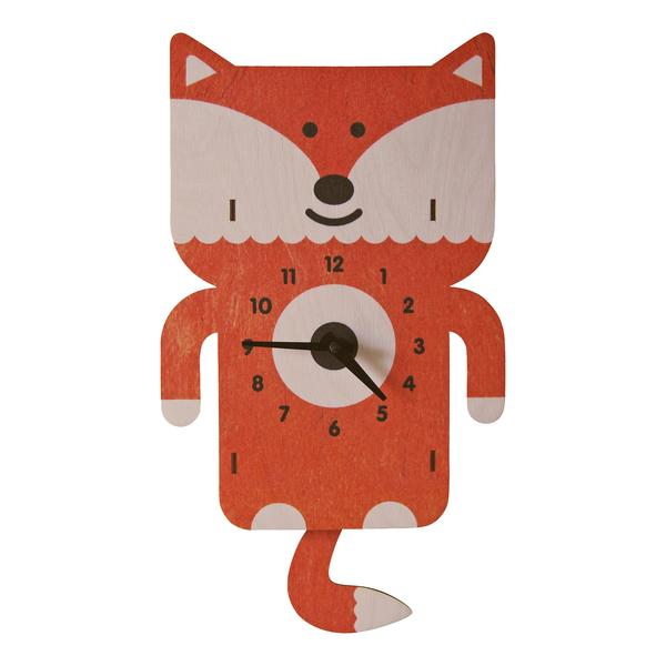 Fox Pendulum Clock - Pink and Brown Boutique