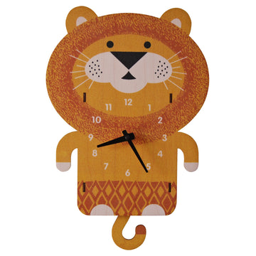 Lion Pendulum Clock - Pink and Brown Boutique