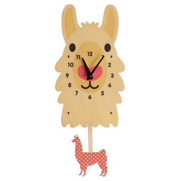 Llama Pendulum Clock - Pink and Brown Boutique