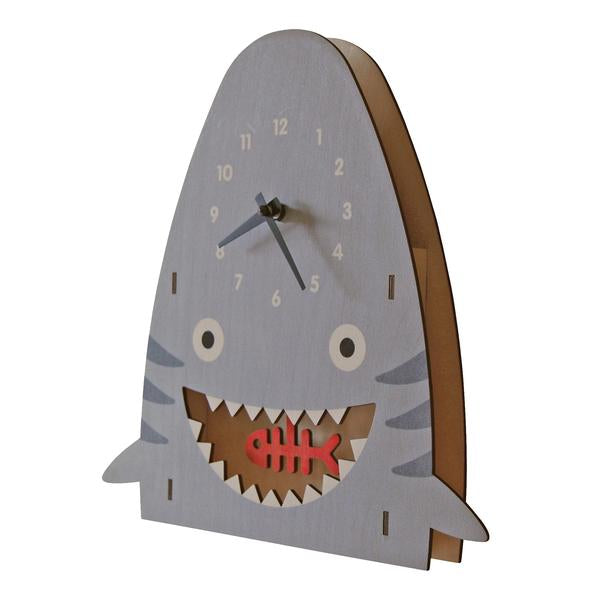 Shark Pendulum Clock - Pink and Brown Boutique