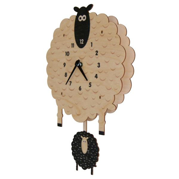 Sheep Pendulum Clock - Pink and Brown Boutique