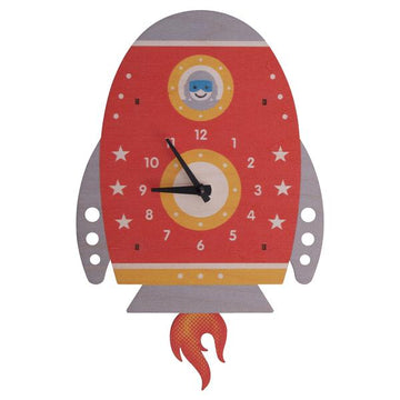 Spaceship Pendulum Clock - Pink and Brown Boutique
