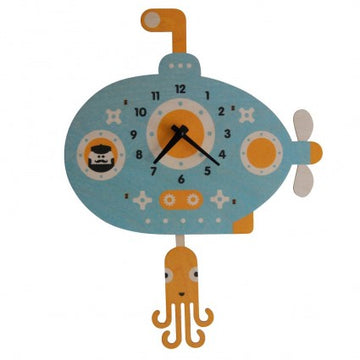 Submarine Pendulum Clock - Pink and Brown Boutique