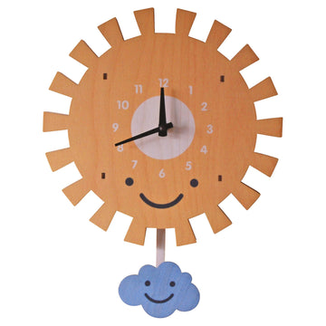 Sun and Cloud Pendulum Clock