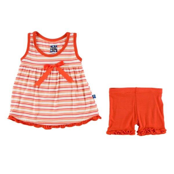 Bamboo Swingtop Outfit in Orange Stripe