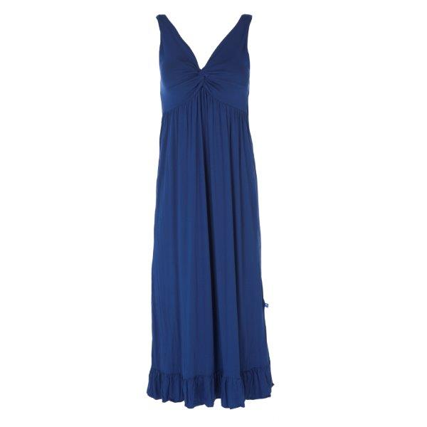 Bamboo Twist Nightgown in Heritage Blue - Pink and Brown Boutique