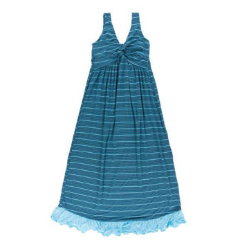 Bamboo Twist Nightgown in Shining Sea Stripe