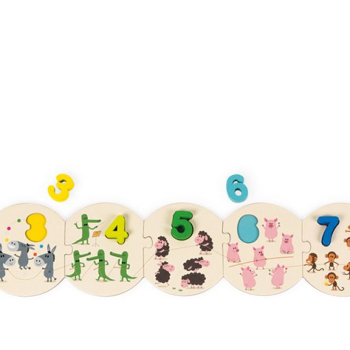 Learn to Count Puzzle - Pink and Brown Boutique