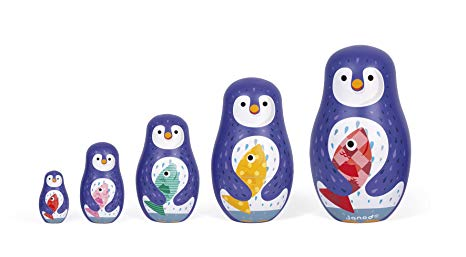 Penguin Russian Dolls - Pink and Brown Boutique