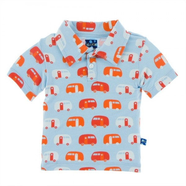 Print Polo in Pond Camper