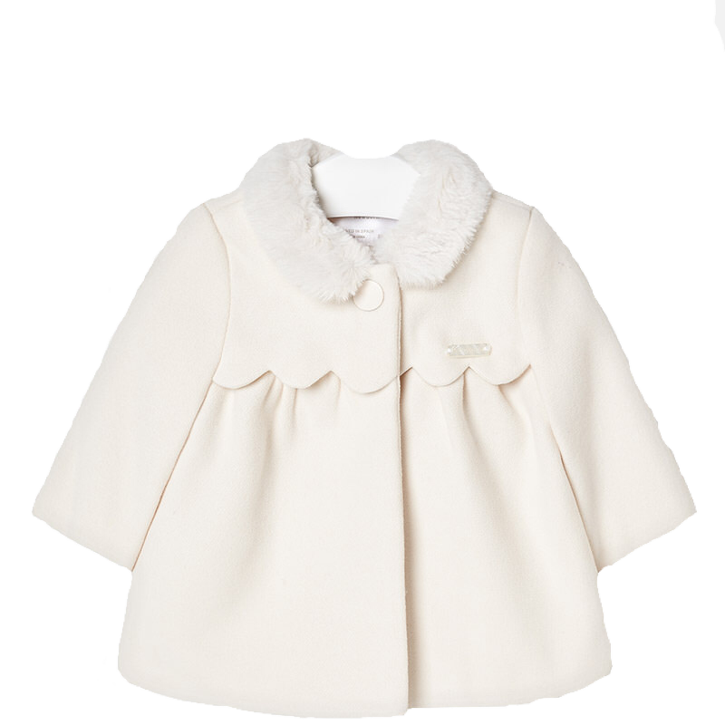 Baby Coat in Creme - Pink and Brown Boutique