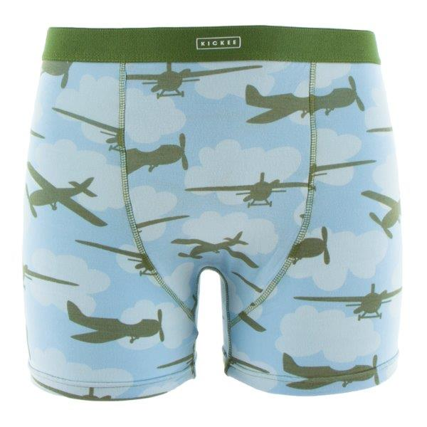 Bamboo Men Boxer Brief in Pond Airplane