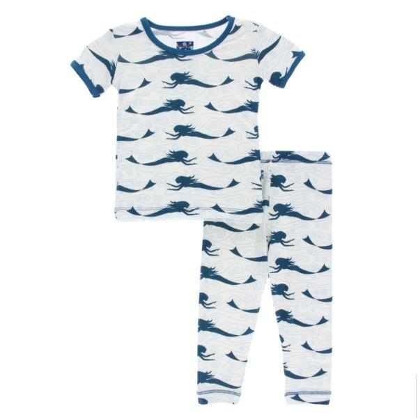 Bamboo Pajama Set in Mermaid