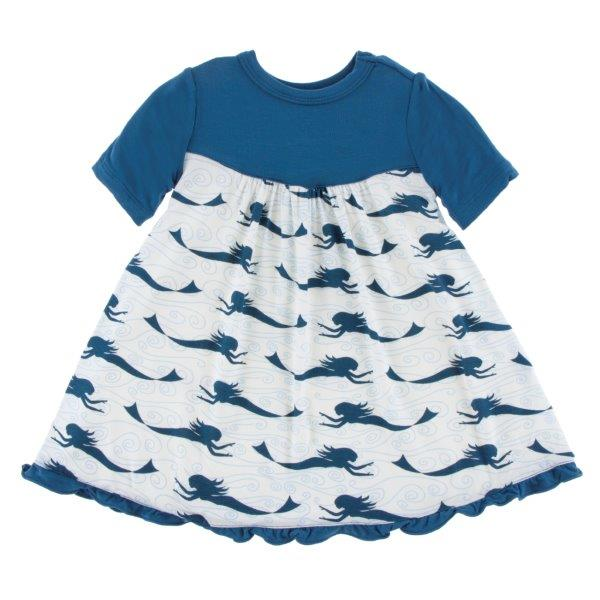 Bamboo Swing Dress in Mermaid