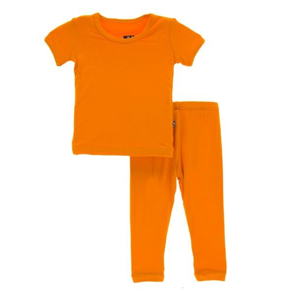 Bamboo Pajama Set in Orange - Pink and Brown Boutique