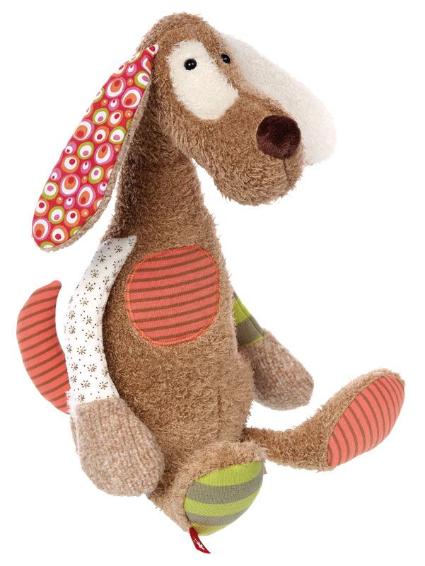 Plush Dog - Pink and Brown Boutique