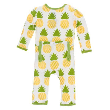 Bamboo Coverall in Pineapple
