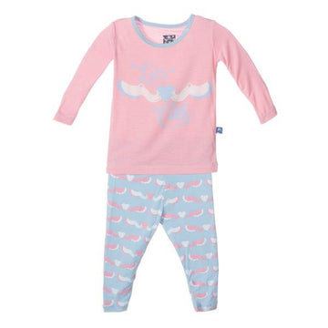 Bamboo Pajama Set in Pink Cuttlefish - Pink and Brown Boutique