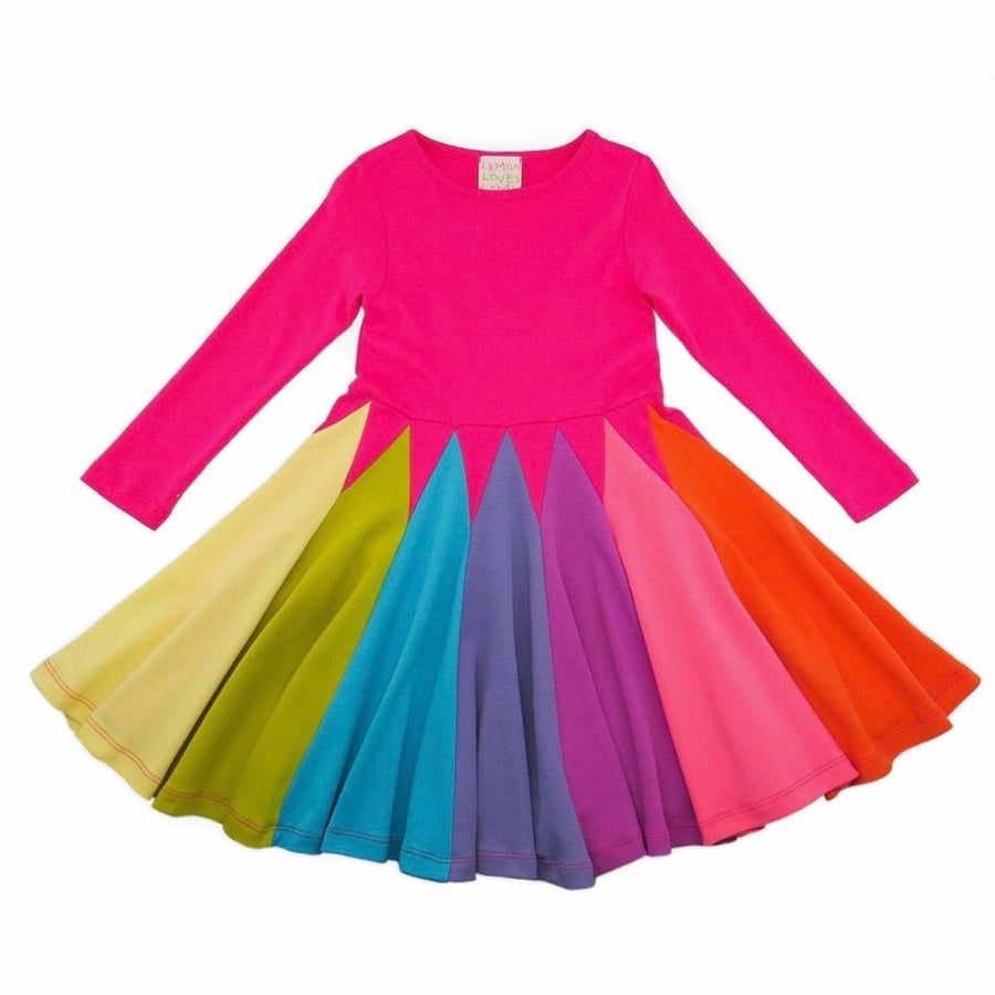 rainbow twirl dress - Pink and Brown Boutique