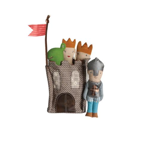 Castle for Rattles - Pink and Brown Boutique