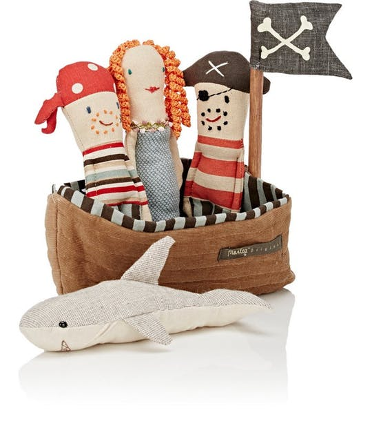 Pirate Ship for Rattles - Pink and Brown Boutique