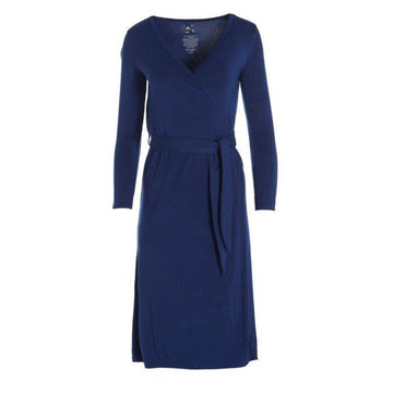 Bamboo Basic Robe in Vintage Blue