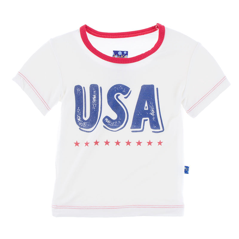Print Tee in USA Natural