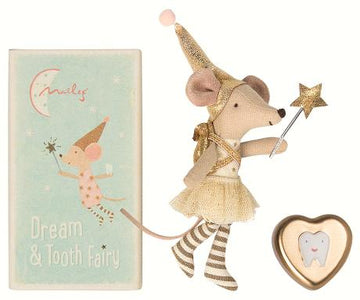 Tooth Fairy Mouse Girl w. Metal Tin - Pink and Brown Boutique