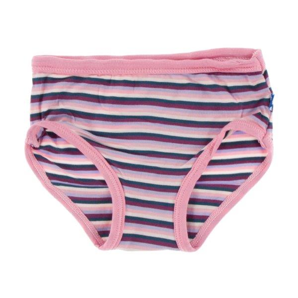 Bamboo Underwear in Plum Stripe