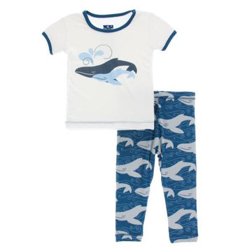 Bamboo Pajama Set in Twilight Whale