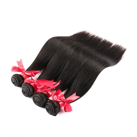 7A 100% Unprocessed Indian Straight Virgin Hair 4 Bundles