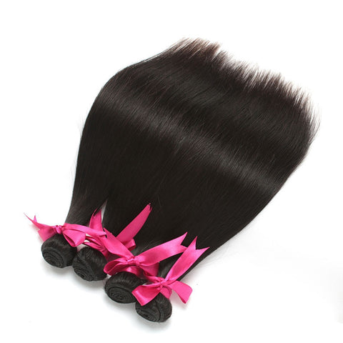 7A 100% Unprocessed Indian Straight Virgin Hair 3 Bundles