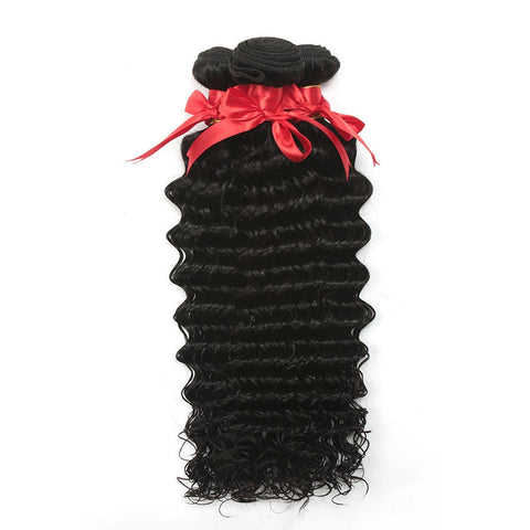 7A 100% Unprocessed Indian Deep Wave Curly Virgin Hair 4 Bundles