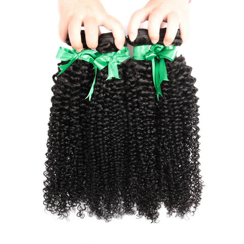 7A 100% Unprocessed Indian Afro Kinky Curly Virgin Hair 4 Bundles