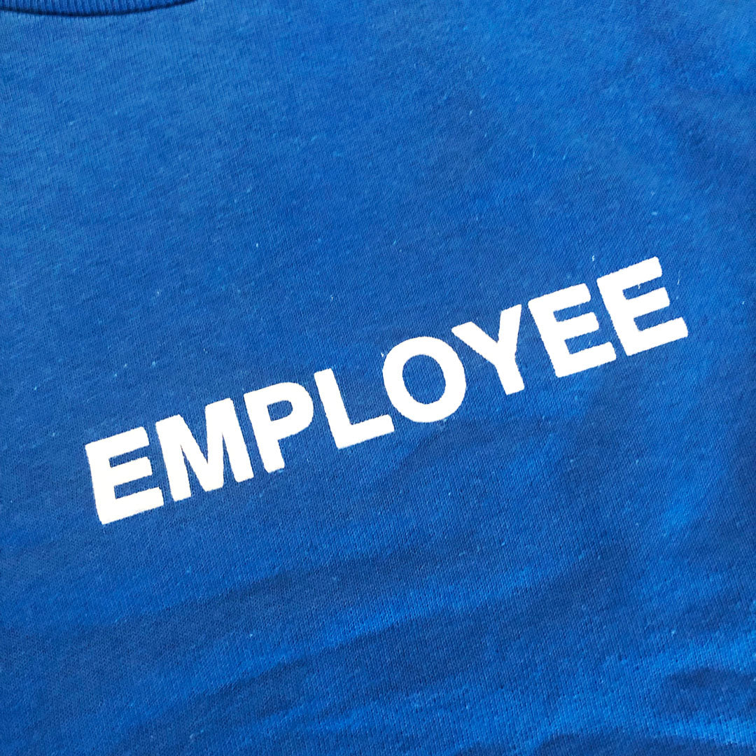Station 'Employee' Tee Blue/White