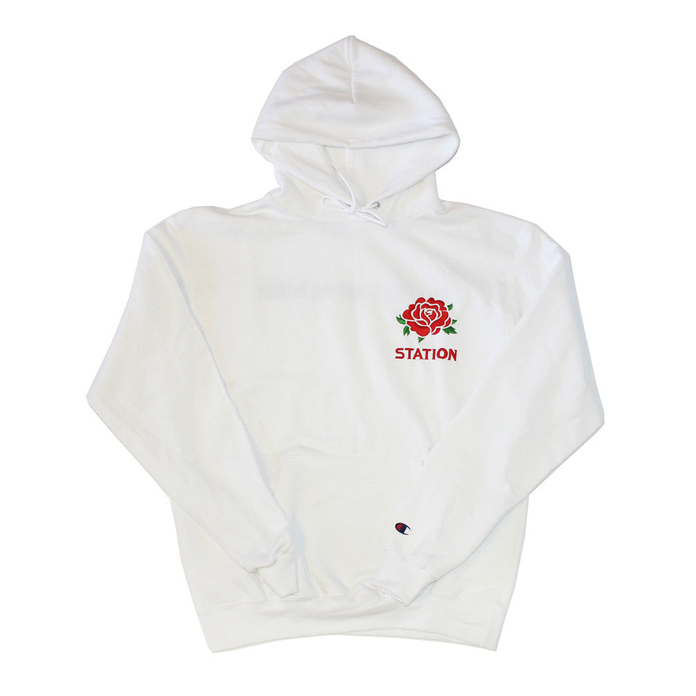 Station 'Botan' Hooded Sweatshirt WHT **PREORDER