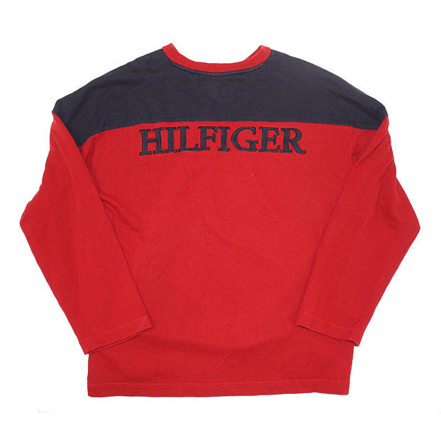 Tommy Hilfiger longsleeve spellout top (L)