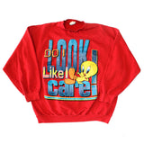 Tweety 'DO I LOOK LIKE I CARE' Sweatshirt (XL)