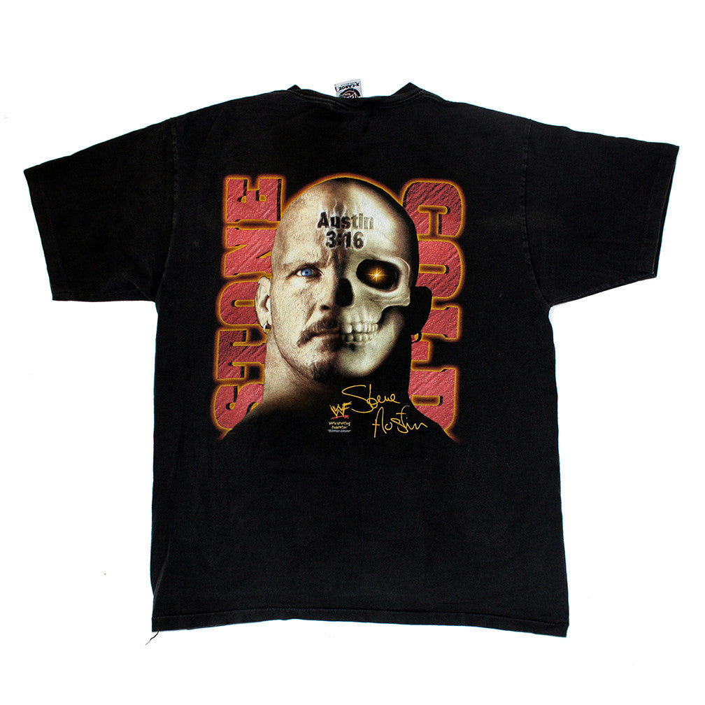 Stone Cold WWF 2x sided tee (L)