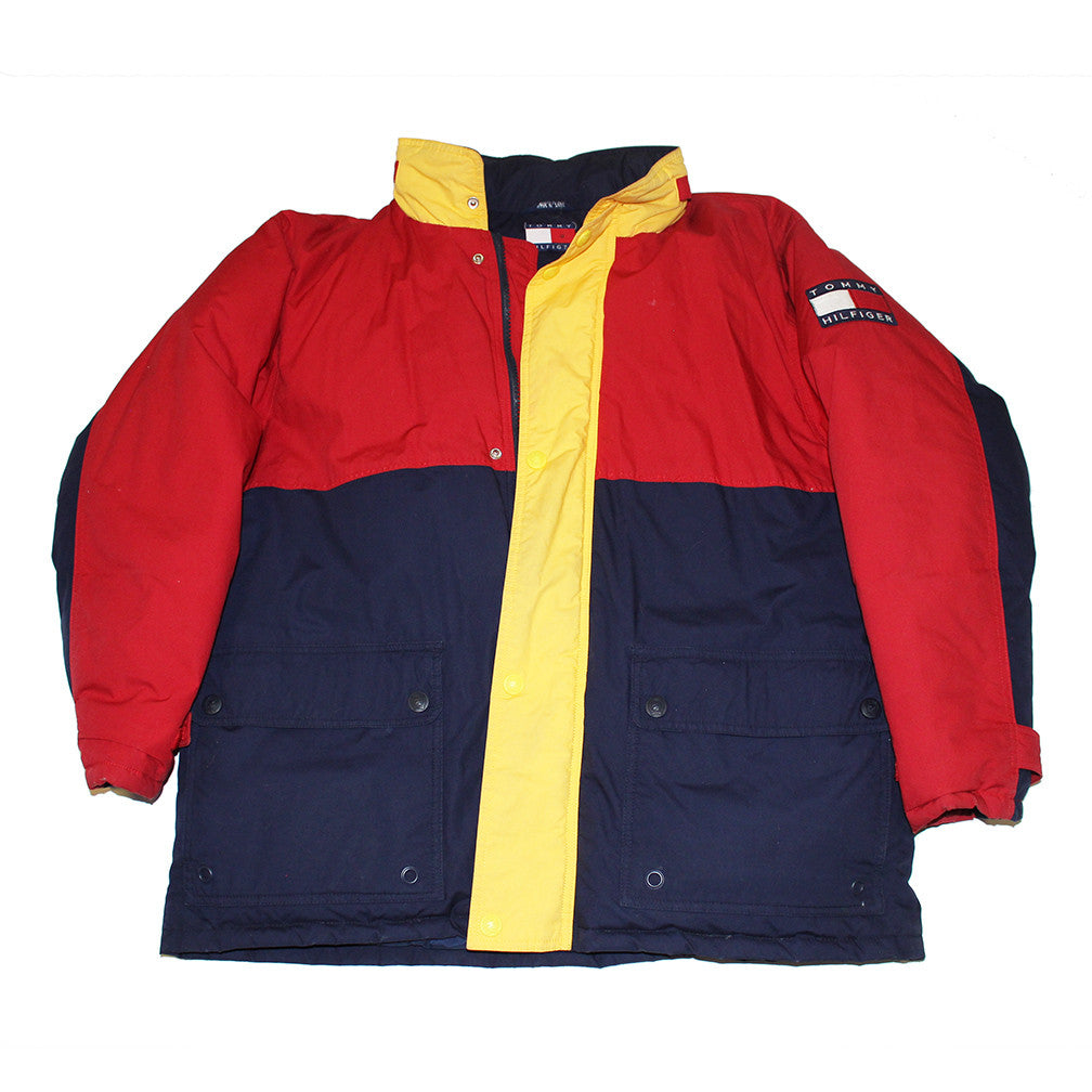 Tommy Hilfiger colorblock down jacket (XL)