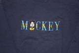Mickey embroidered spell out crewneck (XL)
