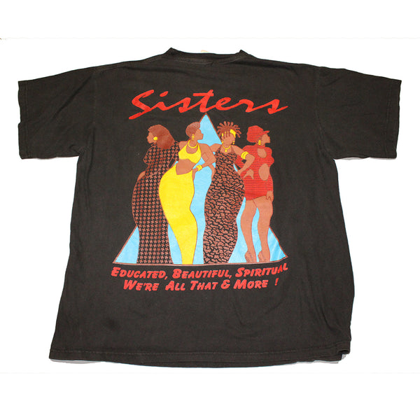 "1997 Million Woman March 'SISTERS"" 2x sided rap tee (XL)"