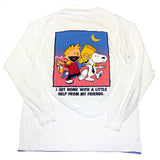 'I Get By With A Little Help From My Friends' Bootleg Cartoon L/S (M)