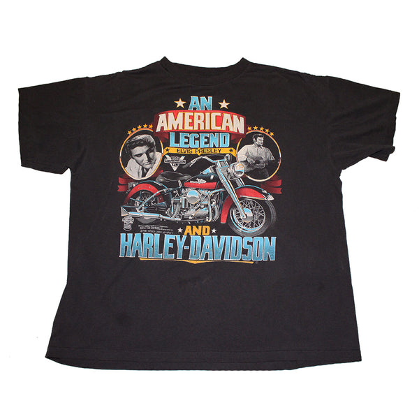1987 'All American Legend' Elvis Harley Davidson Tee (XL)