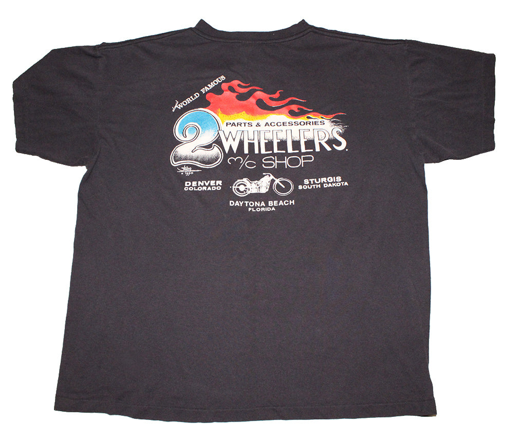 2 Wheelers Bike Shop Harley Davidson Tee (M)