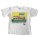 1998 South Park 'cartoons kick ass' Tee (L)