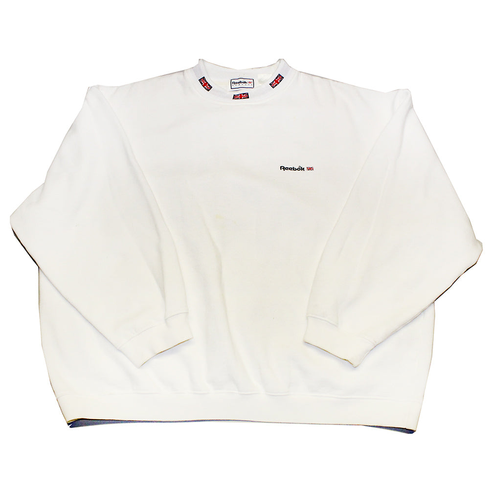 White Reebok Embroidered Pullover (L)