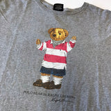 Vintage Striped Tee Polo Bear Tee (L)