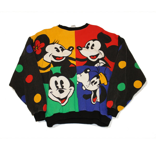 Mickey & Friends Colorblock Polka Dot sweatshirt (M)