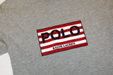 POLO spellout stripes tee (L)